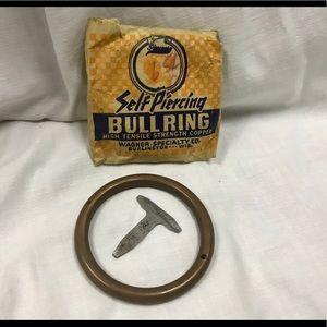 Vintage Self Piercing Bull Ring (Novelty Item)